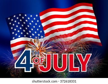 Generic Brochure design template inviting to the celebration of Independence Day / abstract flyer with information of 4th July