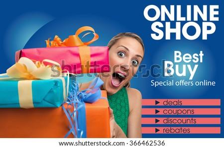 Generic Brochure Design Template Shop Online Stock Photo Edit Now