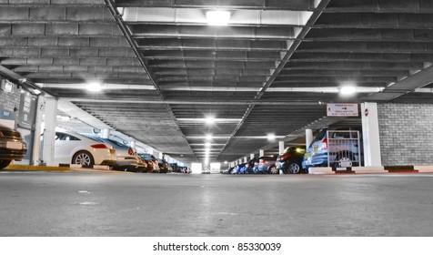 Generic car park interior