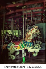 Generic carosel with artistic filter at night