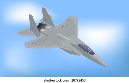 Generic Fighter Jet Raster Illustration