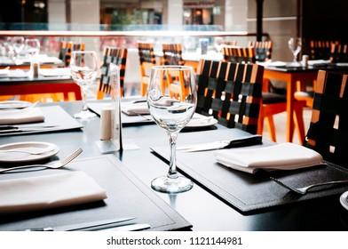 generic image restaurant table background