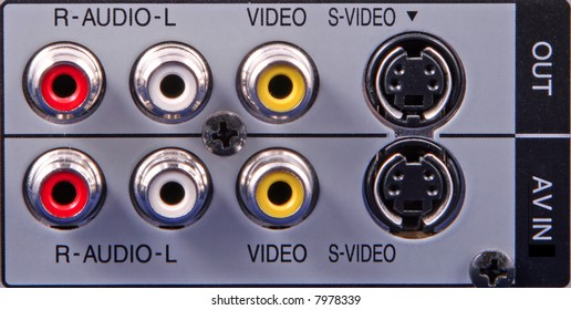 Generic phono and S-Video input/output sockets