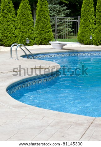 Generic Small Fenced Swimming Pool Diving Stock Photo Edit Now
