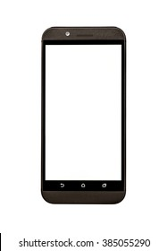 Generic Smart Phone With Blank Screen Isolated