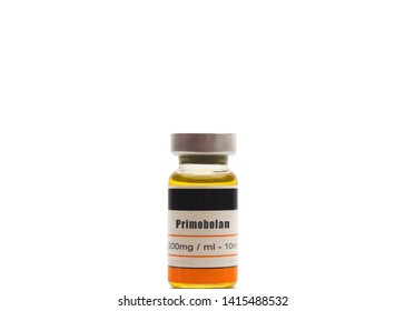 A generic unbranded bottle of Primobolan containing the active ingredient methenolone enanthate used to treat people with malnutrition and those suffering from wasting diseases