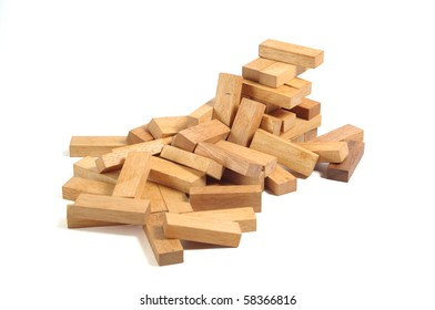 generic wooden block building, wood macro shot