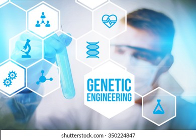 Genetic engineering research concept of human biotech modification and gene therapy.