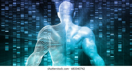 Genetic Research and Testing Development Science Concept 3D Illustration Render