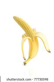 Genetically modified food - banana and corn