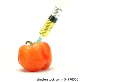 genetically modified peppers , genetically modified food concept