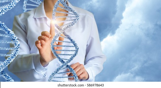 Geneticist working with human DNA.