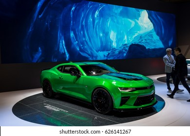 GENEVA 2017: CHEVROLET CAMARO TRACK CONCEPT car on display at 87th international Geneva motor Show at Palexpo-Geneva on March 9, 2017 at Geneva, Switzerland.