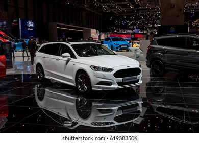 GENEVA 2017: Ford Mondeo ST-Line car on display at 87th international Geneva motor Show at Palexpo-Geneva on March 9, 2017 at Geneva, Switzerland.