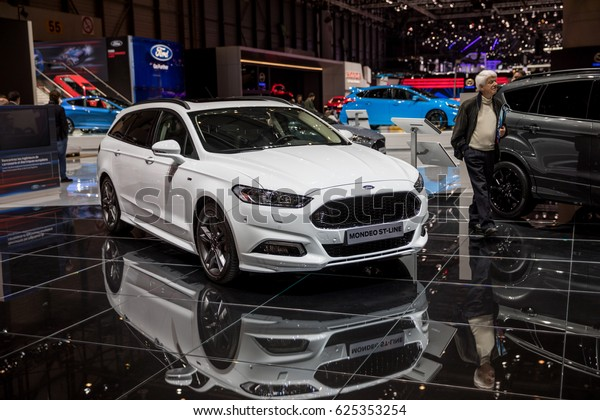 Ford Mondeo St 2017 >> Geneva 2017 Ford Mondeo Stline Car Stock Photo Edit Now