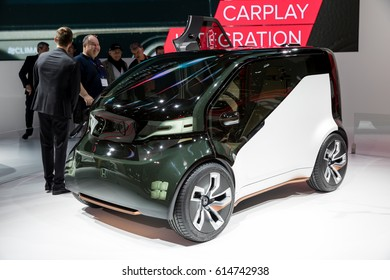 GENEVA 2017: Honda NeuV electric concept car on display at 87th international Geneva motor Show at Palexpo-Geneva on March 9, 2017 at Geneva, Switzerland.