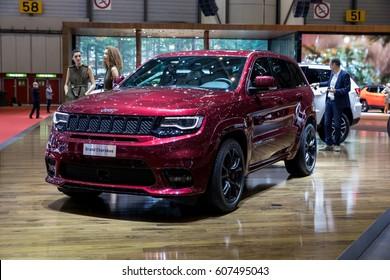 GENEVA 2017: JEEP grand Cherokee car on display at 87th international Geneva motor Show at Palexpo-Geneva on March 9, 2017 at Geneva, Switzerland.