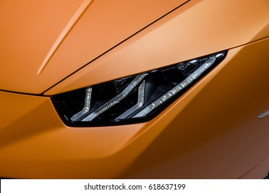 GENEVA 2017: Lamborghini huracan performante car on display at 87th international Geneva motor Show at Palexpo-Geneva on March 9, 2017 at Geneva, Switzerland.