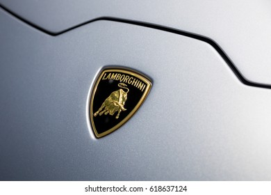GENEVA 2017: Lamborghini Huracan Rwd Spyder car on display at 87th international Geneva motor Show at Palexpo-Geneva on March 9, 2017 at Geneva, Switzerland.