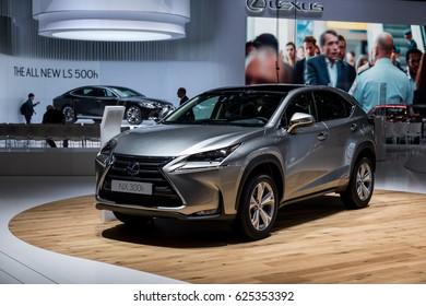 GENEVA 2017: Lexus NX 300h car on display at 87th international Geneva motor Show at Palexpo-Geneva on March 9, 2017 at Geneva, Switzerland.
