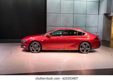 GENEVA 2017: Opel Insignia car on display at 87th international Geneva motor Show at Palexpo-Geneva on March 9, 2017 at Geneva, Switzerland.