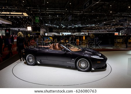 Geneva 2017 Spyker C 8 Preliator Car Stock Photo Edit Now