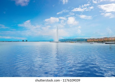 Geneva Geneve lake water Jet D'eau Switzerland Swiss Leman