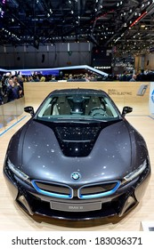 GENEVA, MAR 4: BMW i8 displayed at the 84th International Motor Show International Motor Show in Geneva, Switzerland on March 4, 2014.
