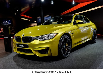 GENEVA, MAR 4: BMW M4, displayed at the 84th International Motor Show International Motor Show in Geneva, Switzerland on March 4, 2014.