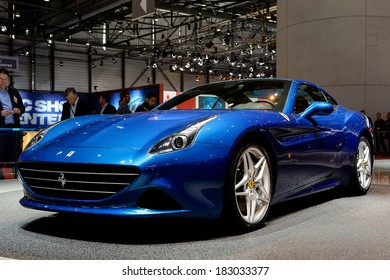 GENEVA, MAR 4: Ferrari California T, displayed at the 84th International Motor Show International Motor Show in Geneva, Switzerland on March 4, 2014.
