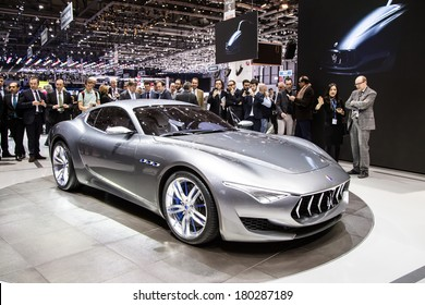 GENEVA, MAR 4: Maserati Alfieri, presented at the 84th International Motor Show in Geneva, Switzerland on March 4, 2014.