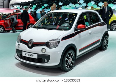 GENEVA, MAR 4: Renault Twingo, displayed at the 84th International Motor Show International Motor Show in Geneva, Switzerland on March 4, 2014.