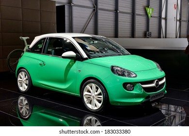 GENEVA, MAR 4: Vauxhall Adam, displayed at the 84th International Motor Show International Motor Show in Geneva, Switzerland on March 4, 2014.