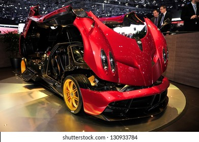 GENEVA, MAR 5: Pagani Huayra, exclusive super car, presented at the 83rd Geneva Motor Show, in Switzerland on March 5, 2013.