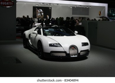 GENEVA - MARCH 2: The Bugatti Veyron 16.4 Grand Sport on display at the 81st International Motor Show Palexpo-Geneva on March 2, 2011 in Geneva, Switzerland.