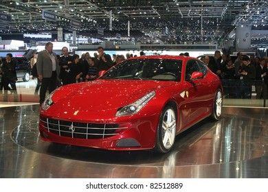 GENEVA - MARCH 2: The Ferrari FF on display at the 81st International Motor Show Palexpo-Geneva on March 2, 2011 in Geneva, Switzerland.