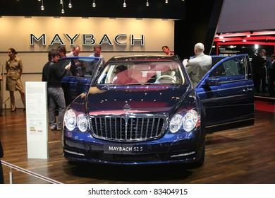 GENEVA - MARCH 2: The Maybach 62 S on display at the 81st International Motor Show Palexpo-Geneva on March 2, 2011 in Geneva, Switzerland.
