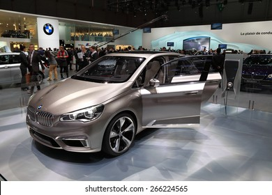 GENEVA, MARCH 3: BMW Concept Active Tourer car on display at 85th international Geneva motor Show at Palexpo-Geneva on March 3, 2015 in Geneva, Switzerland.