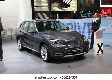 GENEVA, MARCH 3: BMW X1 xDrive 25d car on display at 85th international Geneva motor Show at Palexpo-Geneva on March 3, 2015 in Geneva, Switzerland.