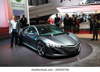 GENEVA, MARCH 3: Honda NSX concept car on display at 85th international Geneva motor Show at Palexpo-Geneva on March 3, 2015 at Geneva, Switzerland.