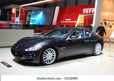 GENEVA - MARCH 3 : A maserati car show on display at 81th International Motor Show Palexpo-Geneva on March 3, 2010 in Geneva, Switzerland.