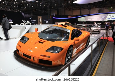 GENEVA, MARCH 3: McLaren F1 LM XP1 car on display at 85th international Geneva motor Show at Palexpo-Geneva on March 3, 2015 in Geneva, Switzerland.