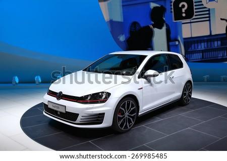 47f1a6fb2c03 GENEVA MARCH 3 Volkswagen VW Golf Stock Photo (Edit Now) 269985485 ...