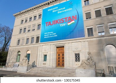 GENEVA - MARCH 3:  World Trade Organization welcomes Tajikistan as a new member March 3, 2013, Geneva, Switzerland. Tajikistan became the 159th member of the World Trade Organization on March 2, 2013.