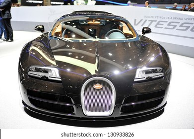 GENEVA, MARCH 5, 2013: Bugatti Veyron displayed at the 83rd Geneva Motor Show, in Swtizerland.