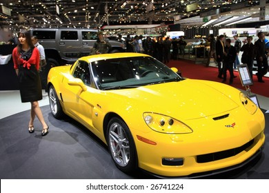 GENEVA - MARCH 7: A Chevrolet Corvette racing car on display at 79th International Motor Show Palexpo-Geneva on March 7, 2009 in Geneva, Switzerland. More than 130 vehicles being introduced.