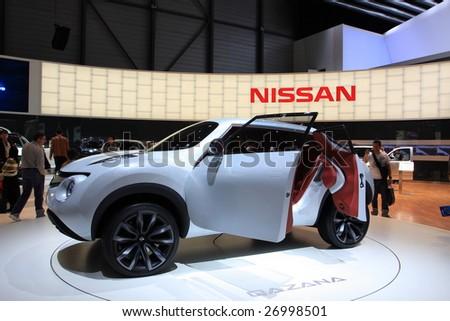 Geneva March 7 Nissan Qazana Concept Stock Photo Edit Now 26998501
