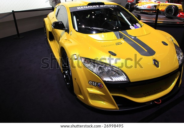GENEVA - MARCH 7 : A  Renault Megane V6 on display at 79th International Motor Show Palexpo-Geneva on March 7, 2009 in Geneva, Switzerland. More than 130 vehicles were introduced.