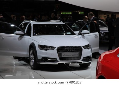 GENEVA, MARCH 8 : A audi a6 allroad quattro car on display at 82th International Motor Show Palexpo-Geneva on March 8, 2012 in Geneva, Switzerland.