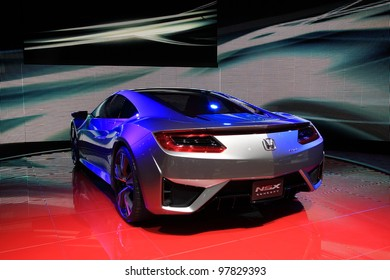 GENEVA - MARCH 8: A HONDA NSX concept car on display at 82th International Motor Show Palexpo-Geneva on March 8, 2012 in Geneva, Switzerland.